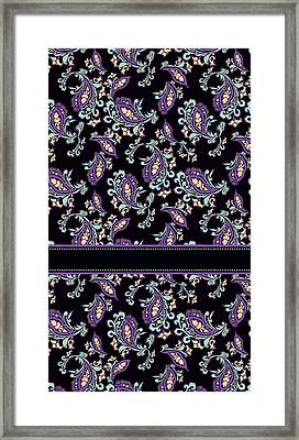 Wild Purple Paisley Framed Print by Jenny Armitage