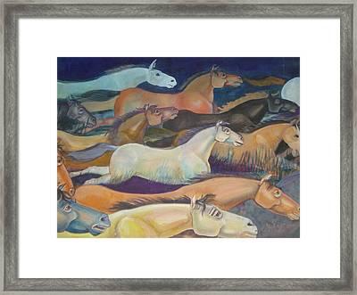 Wild Racers Framed Print by Prasenjit Dhar