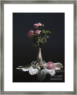 Wild Roses Framed Print by Larry Preston
