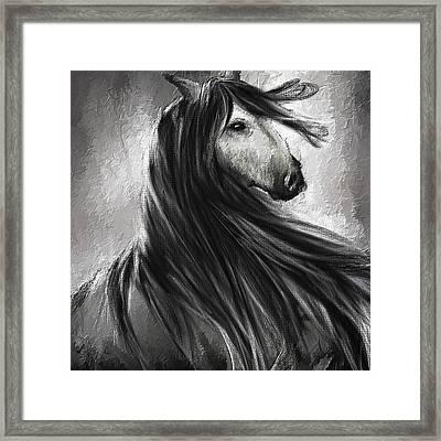 Wild Soul- Fine Art Horse Artwork Framed Print by Lourry Legarde
