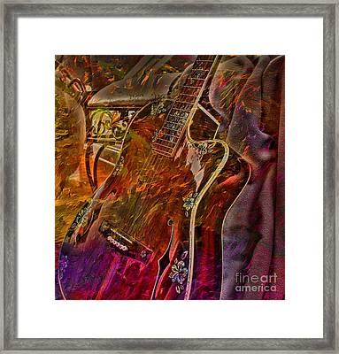 Wild Strings Digital Guitar Art By Steven Langston Framed Print by Steven Lebron Langston