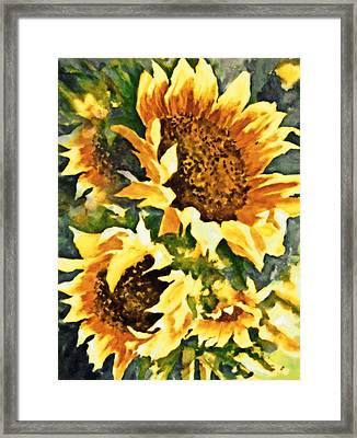 Wild Sunflowers Framed Print by Georgiana Romanovna
