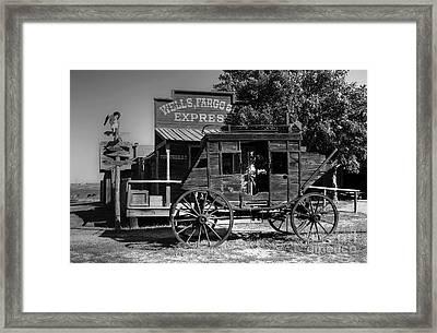 Wild West Stagecoach Framed Print by Mel Steinhauer