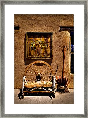 Wild West T-shirts - Old Town New Mexico Framed Print by David Patterson