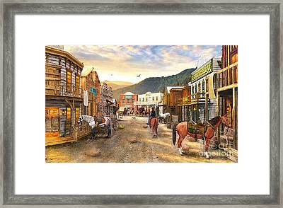Wild West Town Framed Print by Dominic Davison