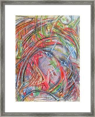 Wilde Gedanken Framed Print by Hans-erich louis friedrich Kleine