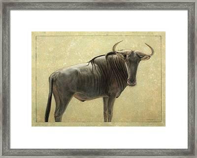 Wildebeest Framed Print by James W Johnson