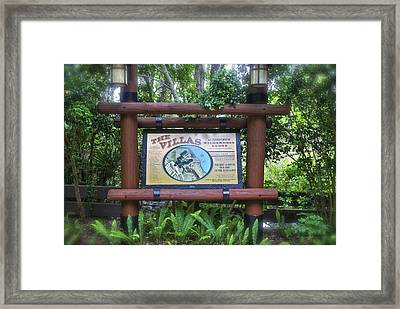 Wilderness Lodge Sign Framed Print by Thomas Woolworth