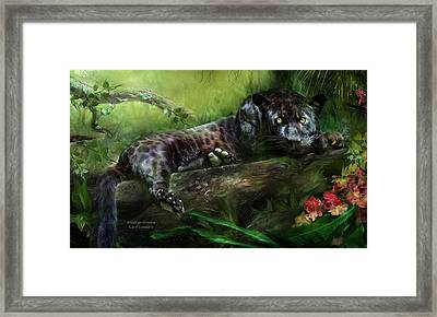 Wildeyes - Panther Framed Print by Carol Cavalaris