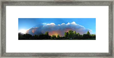 Wildfire Coming Framed Print by Ric Soulen