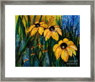 Wildflowers Framed Print by Larry Martin