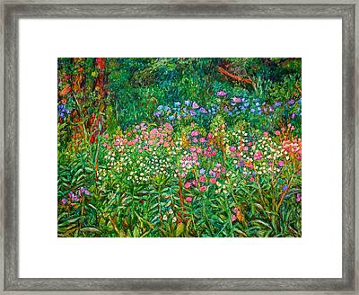 Wildflowers Near Fancy Gap Framed Print by Kendall Kessler