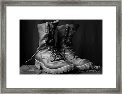 Wildland Fire Boots Still Life Framed Print by Kerri Mortenson