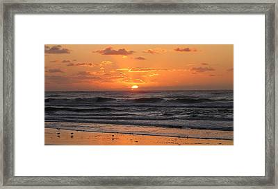Wildwood Beach Here Comes The Sun Framed Print by David Dehner