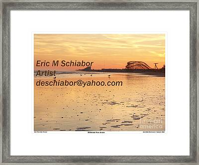 Wildwood Sunset Framed Print by Eric  Schiabor