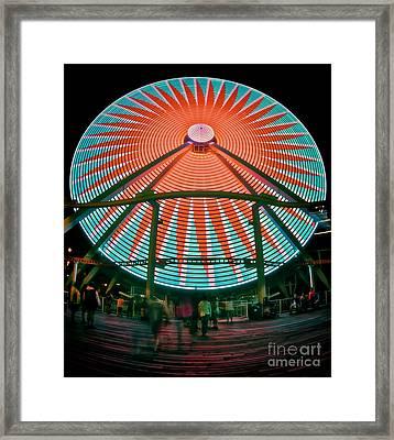 Wildwood's Giant Wheel Framed Print by Mark Miller