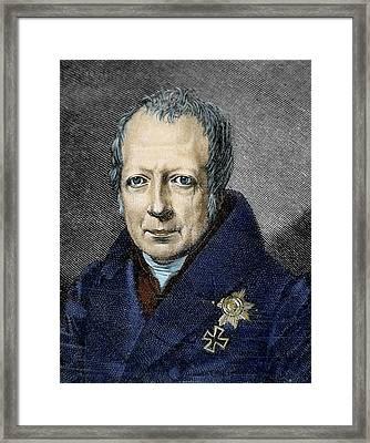 Wilhelm Von Humboldt (1767-1835 Framed Print by Prisma Archivo