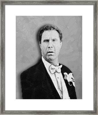 Will Ferrell Old School  Framed Print by Tony Rubino