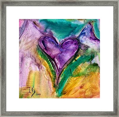 Will For Ever Love You Framed Print by Ivan Guaderrama