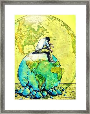 Will Healthy The One That Adapts The Sick Society Framed Print by Paulo Zerbato