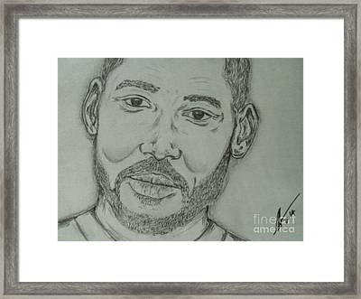 Will Smith Framed Print by Collin A Clarke