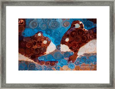 Will You Be My Beaver Framed Print by Omaste Witkowski