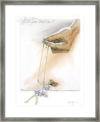 Will You Trust Me Framed Print by Cliff Hawley