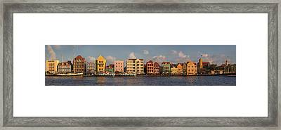 Willemstad Curacao Panoramic Framed Print by Adam Romanowicz