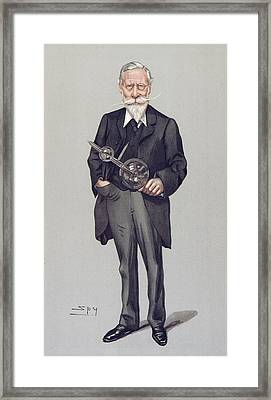 William Crookes And Vacuum Tube, 1903 Framed Print by Science Photo Library
