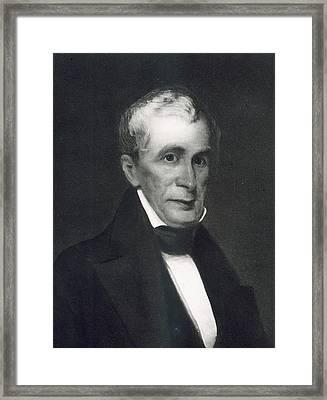 William Henry Harrison Framed Print by Eliphalet Frazer Andrews