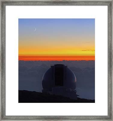 William Herschel Telescope Framed Print by Babak Tafreshi