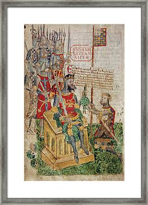 William I And Earl Of Brittany Framed Print by British Library