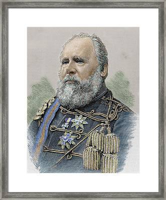 William IIi (brussels, 1817-castillo De Framed Print by Prisma Archivo