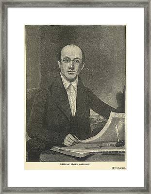 William Lloyd Garrison Framed Print by British Library