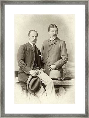 William Osler And Ramsay Wright Framed Print by National Library Of Medicine