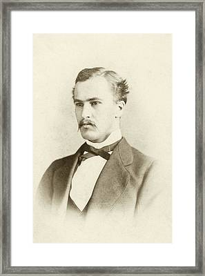 William Osler As A Medical Student Framed Print by National Library Of Medicine