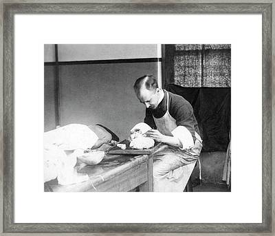 William Osler As A Pathologist Framed Print by National Library Of Medicine