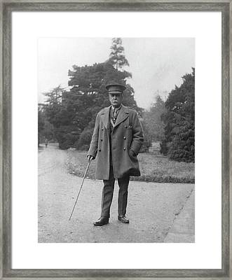 William Osler During The First World War Framed Print by National Library Of Medicine