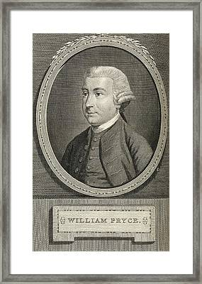 William Pryce Framed Print by Royal Institution Of Great Britain