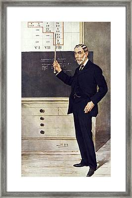 William Ramsay, Scottish Chemist Framed Print by Science Photo Library