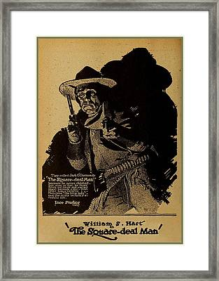 William S Hart Framed Print by Charlie Ross