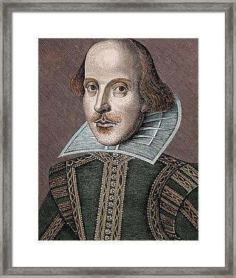 William Shakespeare (stratford-on-avon Framed Print by Prisma Archivo