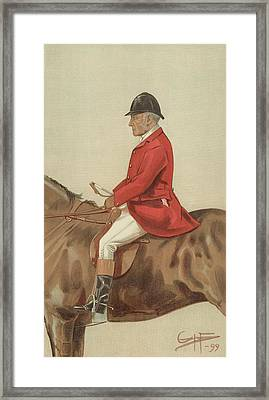 William Ward Tailby Framed Print by Sir Samuel Luke Fildes