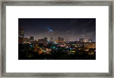 Williams Tower Beacon Framed Print by David Morefield