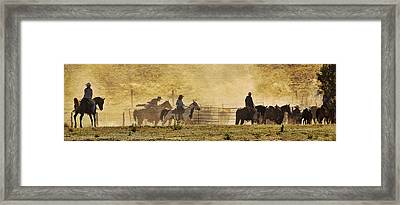 Williamson Valley Roundup 4 Framed Print by Priscilla Burgers