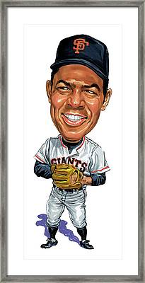 Willie Mays Framed Print by Art
