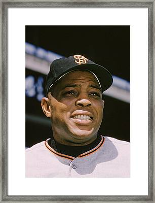 Willie Mays Close-up Framed Print by Retro Images Archive
