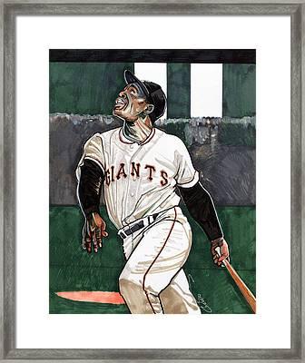 Willie Mays Framed Print by Dave Olsen