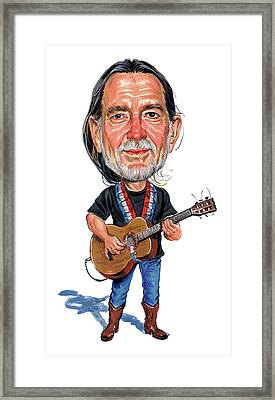Willie Nelson Framed Print by Art