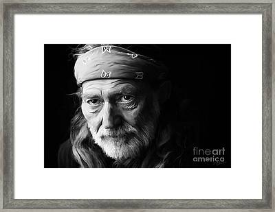 Willie Nelson Framed Print by Paul Tagliamonte